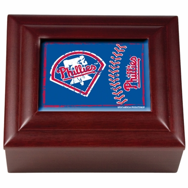 Philadelphia Phillies Wooden Keepsake Box