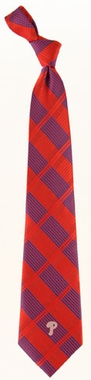 Philadelphia Phillies Woven Plaid Necktie
