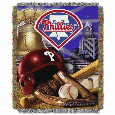 Philadelphia Phillies Woven Tapestry Blanket