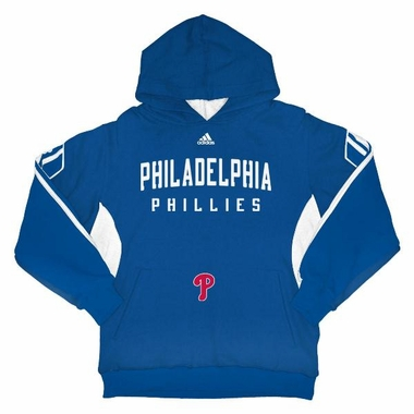 Philadelphia Phillies Youth 3 Stripe Hooded Sweatshirt