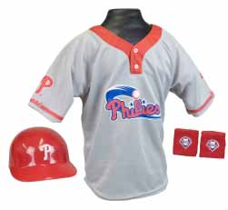 Philadelphia Phillies YOUTH Helmet and Jersey Set