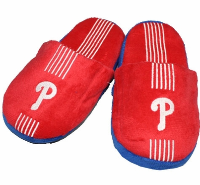 Philadelphia Phillies YOUTH Team Stripe Slide Slippers