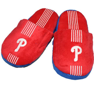 Philadelphia Phillies YOUTH Team Stripe Slide Slippers-X-Large