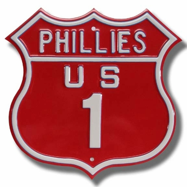 Phillies / 1 Route Sign