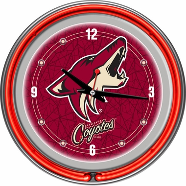 Arizona Coyotes 14 Inch Neon Clock