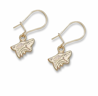 Arizona Coyotes 14K Gold Post or Dangle Earrings