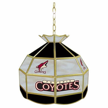 Arizona Coyotes 16 Inch Diameter Stained Glass Pub Light