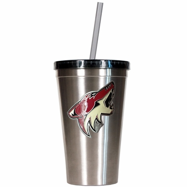 Arizona Coyotes 16oz Stainless Steel Insulated Tumbler with Straw