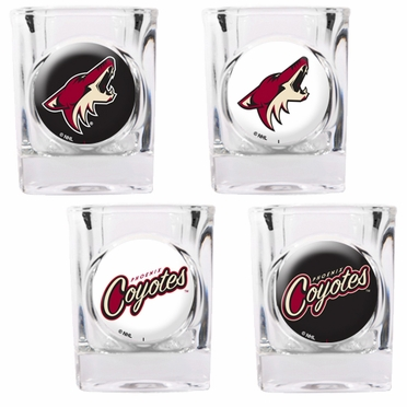 Arizona Coyotes 4 Piece Assorted Shot Glass Set