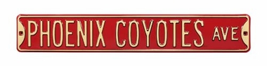 Arizona Coyotes Ave Street Sign