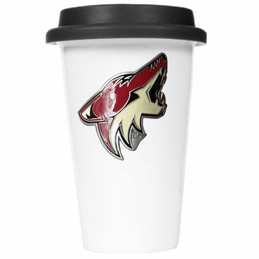 Arizona Coyotes Ceramic Travel Cup (Black Lid)