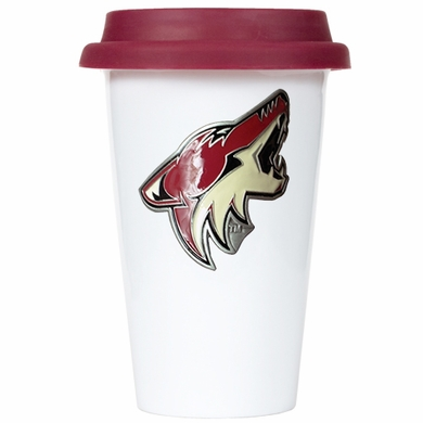 Arizona Coyotes Ceramic Travel Cup (Team Color Lid)