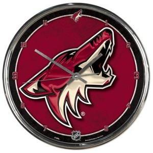 Arizona Coyotes Chrome Clock