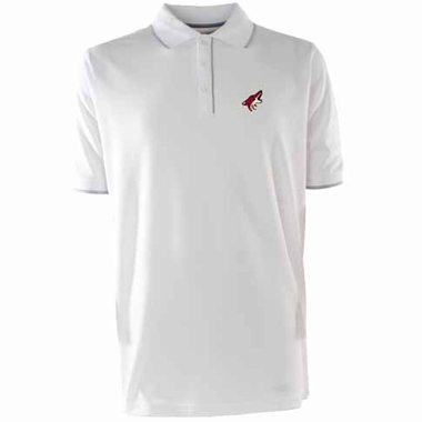Arizona Coyotes Mens Elite Polo Shirt (Color: White)