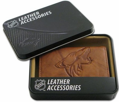 Arizona Coyotes Embossed Leather Trifold Wallet
