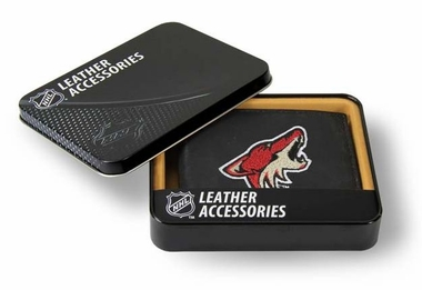 Arizona Coyotes Embroidered Leather Bi-Fold Wallet