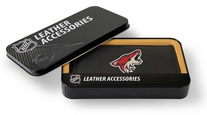 Arizona Coyotes Embroidered Leather Checkbook Cover
