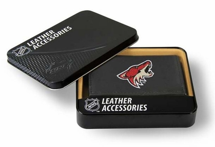 Arizona Coyotes Embroidered Leather Tri-Fold Wallet