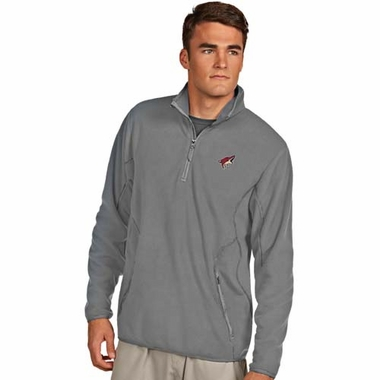 Arizona Coyotes Mens Ice Polar Fleece Pullover (Color: Gray)