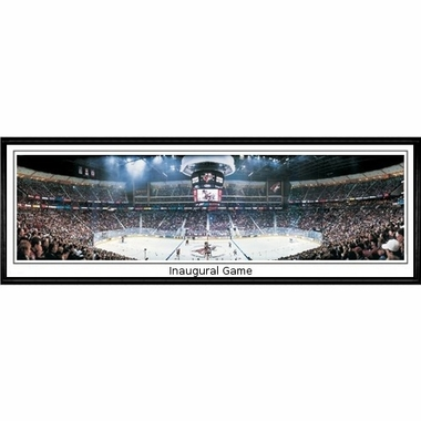 Arizona Coyotes Inaugural Game Framed Panoramic Print
