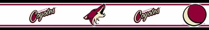 Arizona Coyotes Peel and Stick Wallpaper Border