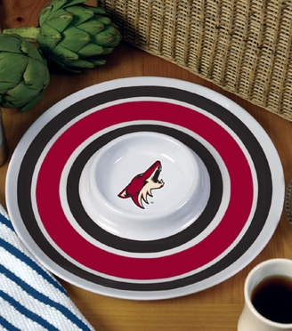 Arizona Coyotes Plastic Chip and Dip Plate