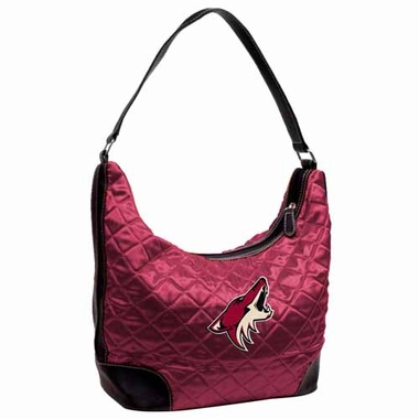 Arizona Coyotes Quilted Hobo Purse