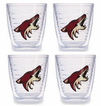 Arizona Coyotes Set of FOUR 12 oz. Tervis Tumblers