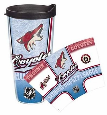Arizona Coyotes Set of TWO 24 oz. Tervis Wrap Tumblers w/ Lids