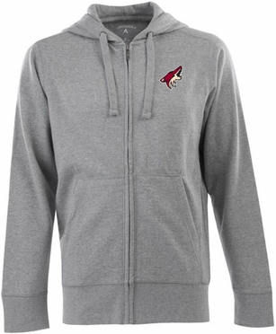 Arizona Coyotes Mens Signature Full Zip Hooded Sweatshirt (Color: Gray)