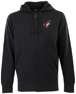 Arizona Coyotes Mens Signature Full Zip Hooded Sweatshirt (Team Color: Black) - Large