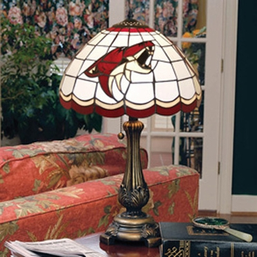 Arizona Coyotes Stained Glass Table Lamp