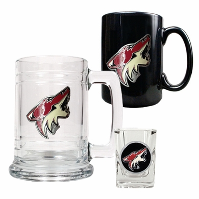 Arizona Coyotes Tankard, Coffee Mug and Shot Glass Set