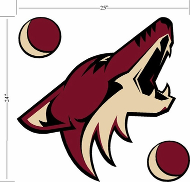 Arizona Coyotes Wallmarx Large Wall Decal