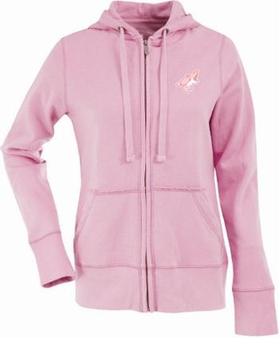 Arizona Coyotes Womens Zip Front Hoody Sweatshirt (Color: Pink)