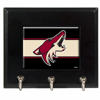 Arizona Coyotes Wooden Keyhook Rack