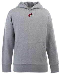 Arizona Coyotes YOUTH Boys Signature Hooded Sweatshirt (Color: Gray) - Medium