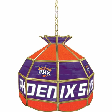 Phoenix Suns 16 Inch Diameter Stained Glass Pub Light
