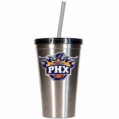 Phoenix Suns 16oz Stainless Steel Insulated Tumbler with Straw