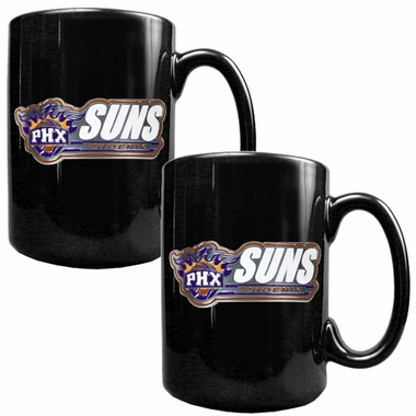 Phoenix Suns 2 Piece Coffee Mug Set (Wordmark)
