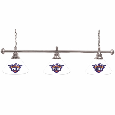 Phoenix Suns 3 Shade Billiard Lamp