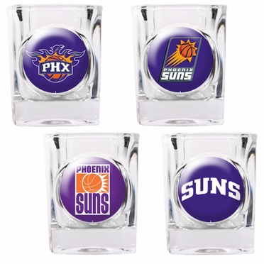Phoenix Suns 4 Piece Assorted Shot Glass Set