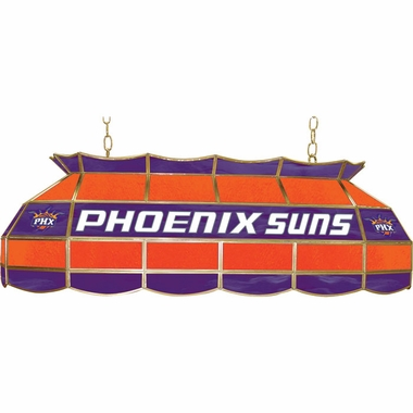 Phoenix Suns 40 Inch Rectangular Stained Glass Billiard Light