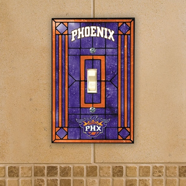 Phoenix Suns Art Glass Lightswitch Cover