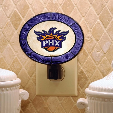 Phoenix Suns Art Glass Night Light