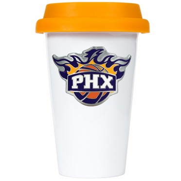 Phoenix Suns Ceramic Travel Cup (Team Color Lid)