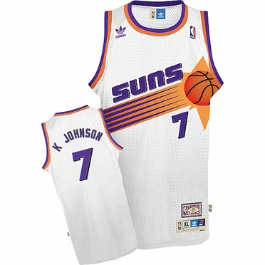Phoenix Suns Kevin Johnson White Throwback Replica Premiere Jersey