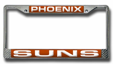 Phoenix Suns Laser Etched Chrome License Plate Frame