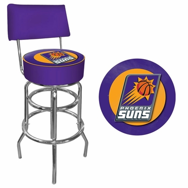 Phoenix Suns Padded Bar Stool with Back