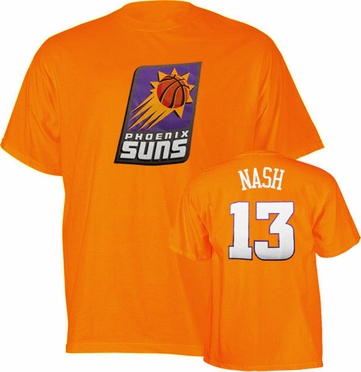 Phoenix Suns Steve Hash Player Name and Number T-Shirt